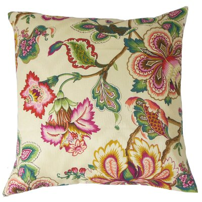 Dannemora Floral Floor Pillow Color: Rose