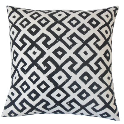 Eglantina Geometric Floor Pillow Black White