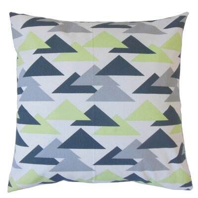 Kropp Geometric Floor Pillow Color: Kiwi