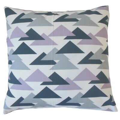 Kropp Geometric Floor Pillow Color: Saffron