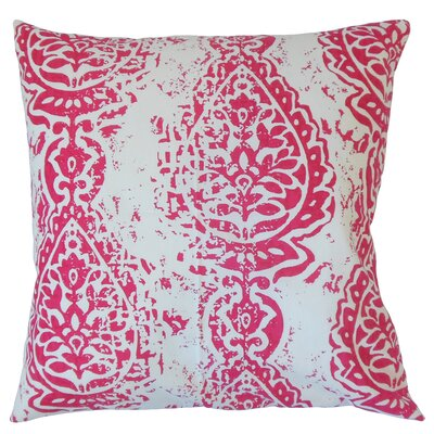 Zelma Ikat Floor Pillow Color: Pink