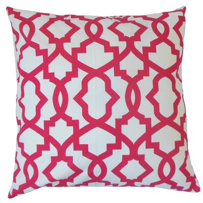 Anneliese Geometric Floor Pillow Color: Pink