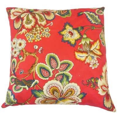 Dannemora Floral Floor Pillow Color: Garnet