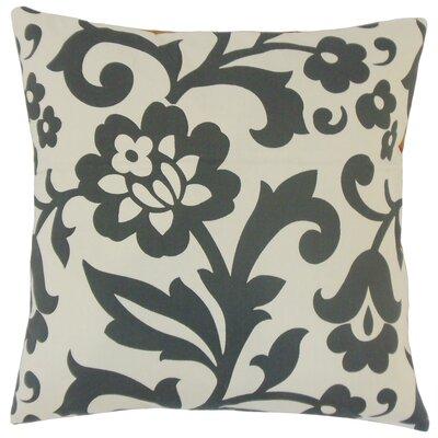 Jasonville Floral Floor Pillow Color: Dove