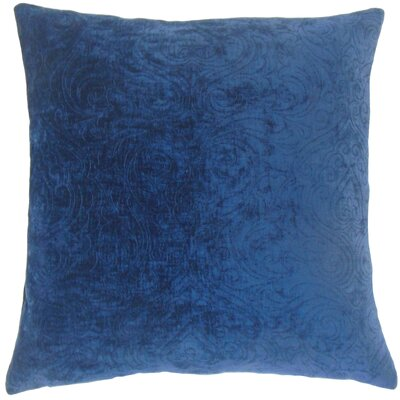 Luyster Solid Floor Pillow Color: Sapphire