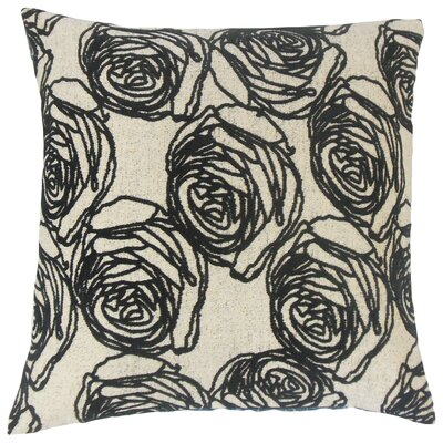 Amaury Floral Floor Pillow Color: Domino