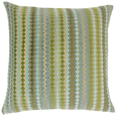 Jeanne Geometric Floor Pillow Color: Lake