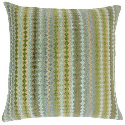 Jeanne Geometric Floor Pillow Color: Lake