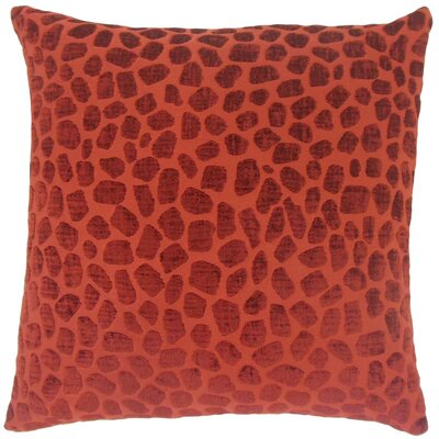 Dreketi Geometric Floor Pillow Color: Cinnabar