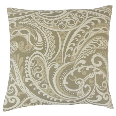 Darlington Damask Floor Pillow Color: Linen