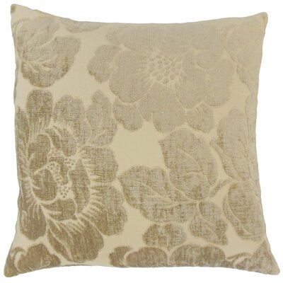 Phoenix Floral Floor Pillow Color: Linen