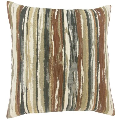 Korey Stripes Floor Pillow Color: Earth