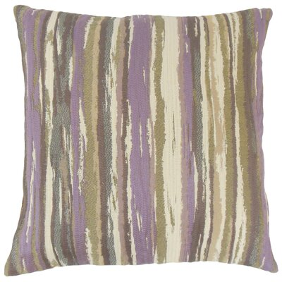 Korey Stripes Floor Pillow Color: Lavender