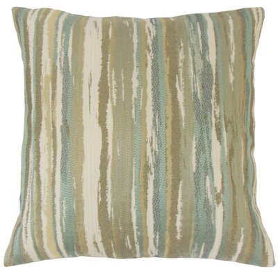 Korey Stripes Floor Pillow Color: Sage
