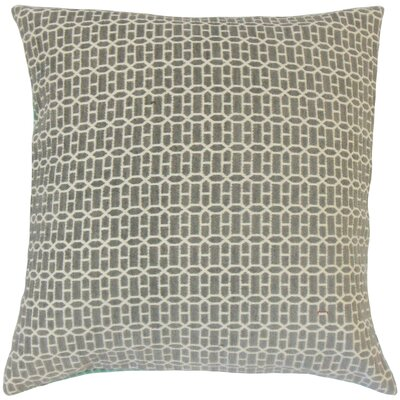 Dionisio Geometric Floor Pillow Color: Gray