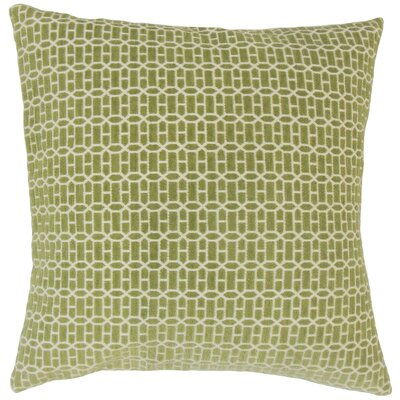 Dionisio Geometric Floor Pillow Color: Kiwi