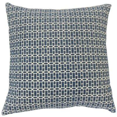 Dionisio Geometric Floor Pillow Color: Lapis