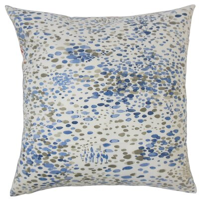 Davonte Graphic Floor Pillow Color: Blue
