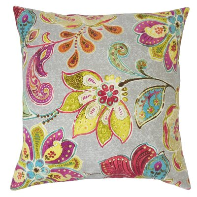 Casteel Floral Floor Pillow Color: Blossom