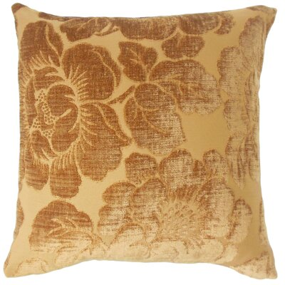 Phoenix Floral Floor Pillow Color: Ginger