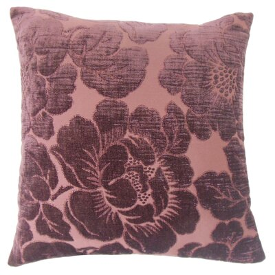 Phoenix Floral Floor Pillow Color: Violet