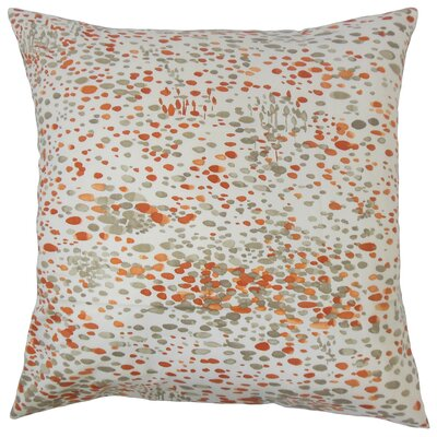 Davonte Graphic Floor Pillow Color: Persimmon