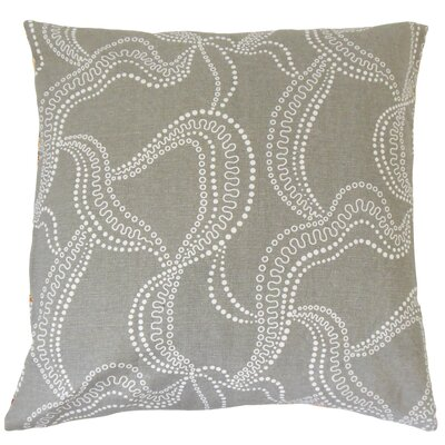 Cristopher Graphic Floor Pillow Color: Smoke