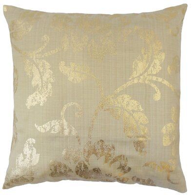 Tai Floral Floor Pillow Color: Gold