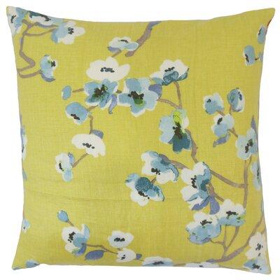 Albertine Floral Floor Pillow Color: Peridot