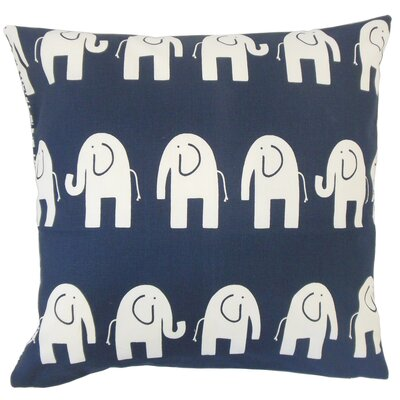 Lamont Graphic Floor Pillow Color: Navy