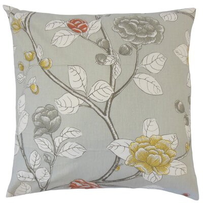 Rhonda Floral Floor Pillow Color: Dove