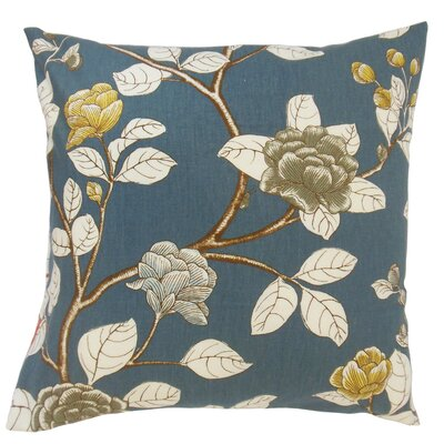 Rhonda Floral Floor Pillow Color: Midnight