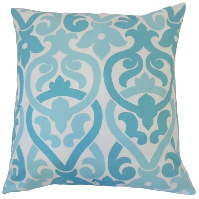 Blaine Geometric Floor Pillow Color: Blue