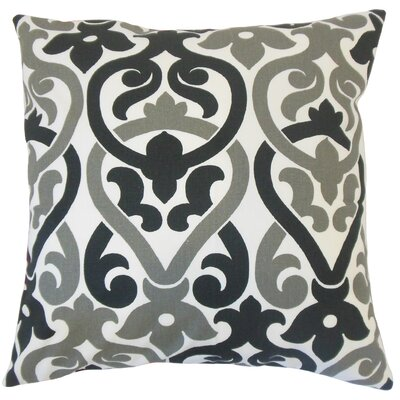 Blaine Geometric Floor Pillow Color: Black