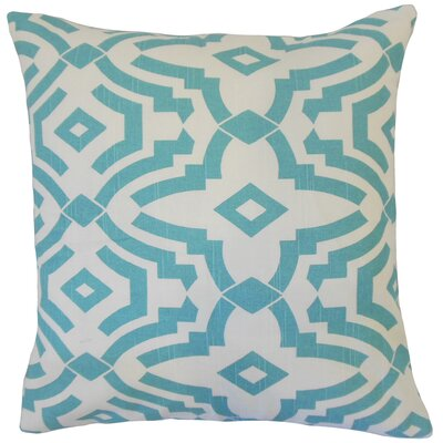 Hentges Geometric Floor Pillow Color: Blue