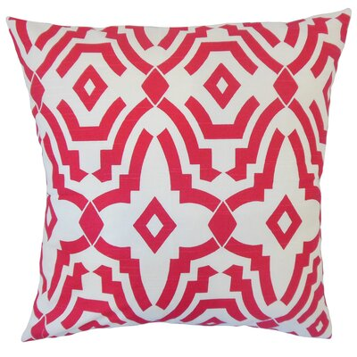 Hentges Geometric Floor Pillow Color: Pink