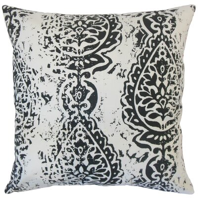 Zelma Ikat Floor Pillow Color: Black