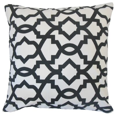 Anneliese Geometric Floor Pillow Color: Black