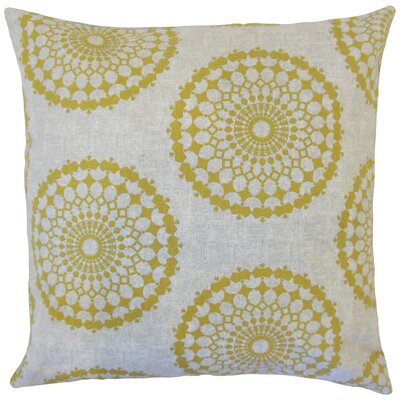 Bucknell Geometric Floor Pillow Color: Citrine