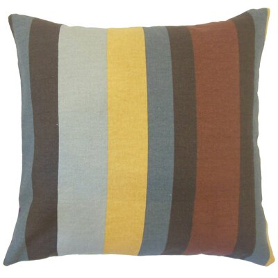 Armanda Stripes Floor Pillow Color: Gray