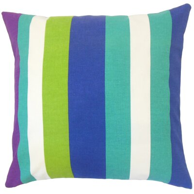 Armanda Stripes Floor Pillow Color: Blast