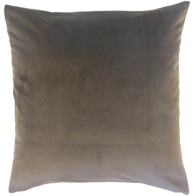 Aveneil Solid Floor Pillow Color: Coal