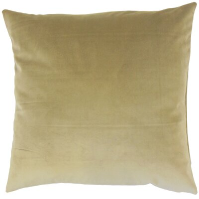 Aveneil Solid Floor Pillow Color: Olive