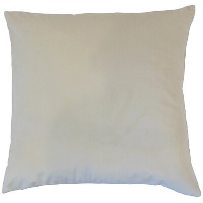 Aveneil Solid Floor Pillow Color: Vanilla