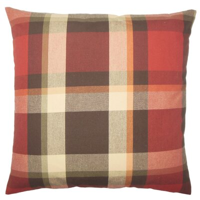 Brandon Plaid Floor Pillow Color: Mulberry