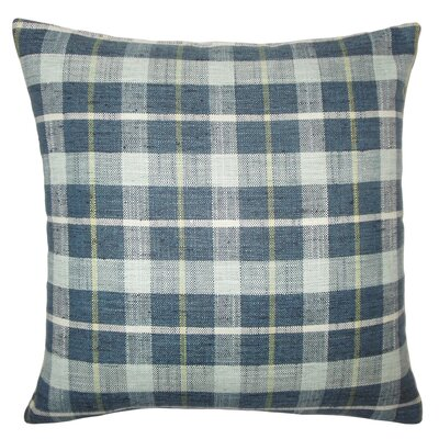 Monica Plaid Floor Pillow Color: Marine