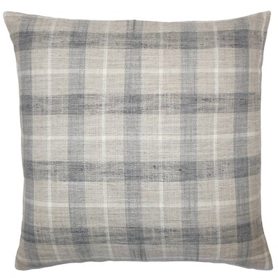 Monica Plaid Floor Pillow Color: Metal