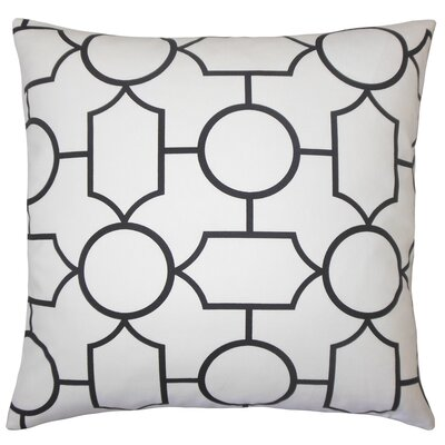 Leaston Hecate Geometric Floor Pillow Color: Black