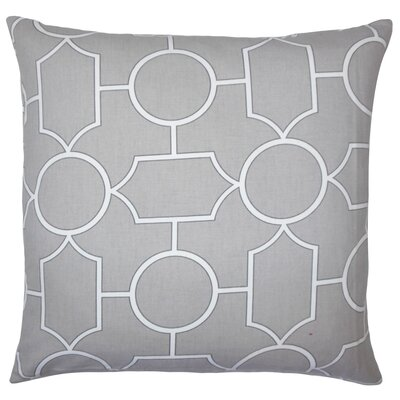 Leaston Hecate Geometric Floor Pillow Color: Dove