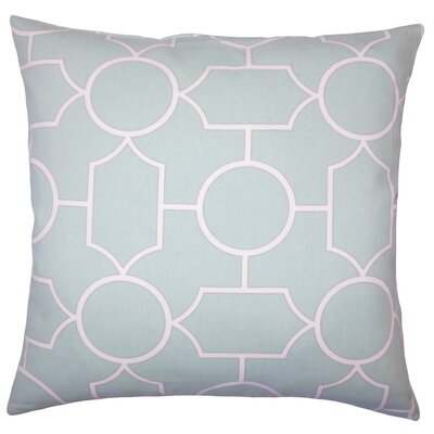 Leaston Hecate Geometric Floor Pillow Color: Sea Glass